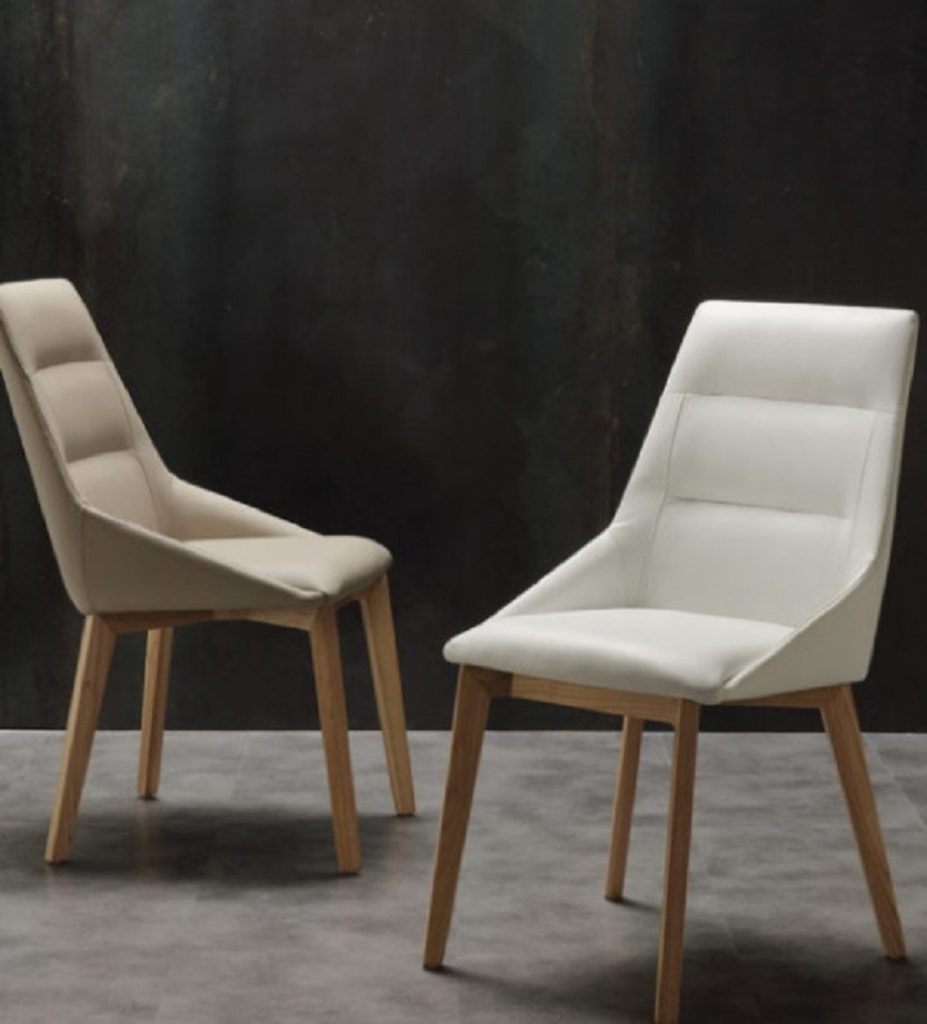 Sedia moderna in ecopelle e legno la seggiola a prezzo for Sedia ufficio moderna