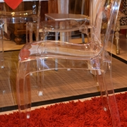 sedia moderna impilabile in propilene trasparente