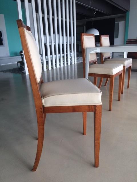 Sedia Morelato Design Classico In Legno E Tessuto Mod