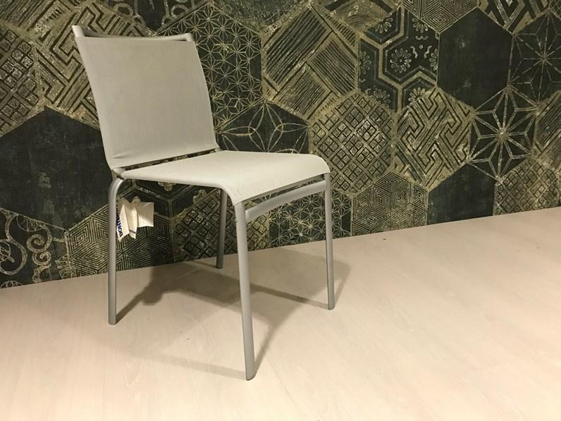 Sedia net colore grigio Bontempi casa a prezzo Outlet