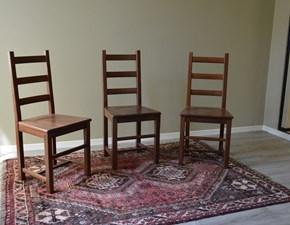 Sedia Paesana di Produzione Artigianale. Le sedie sono rifinite con lucidatura eseguita a mano. Scontate del -68%. Offerta Outlet Arredo Mobilgross.