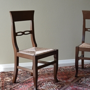 Sedia Paesana di Produzione Artigianale. Le sedie sono rifinite con lucidatura eseguita a mano e con rivestimento di seduta in paglia.  Scontate del -59%.  Offerta Outlet Mobilgross