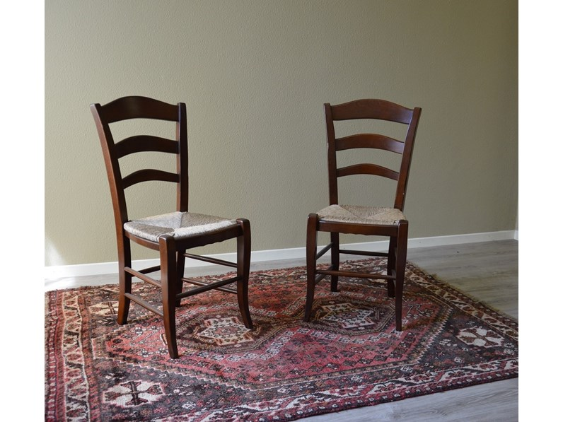 Sedie paesana in paglia di produzione artigianale for Produzione sedie