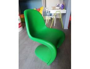 Sedia Panton chair verde Vitra SCONTATA a PREZZI OUTLET