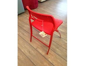 sedia arkua infinti design rosso