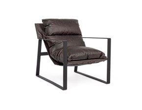 Sedia poltroncina Isold leather Bizzotto in Offerta Outlet