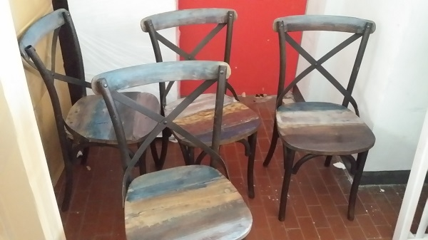 sedia recicle industrial vintageprezzo offerta   outlet
