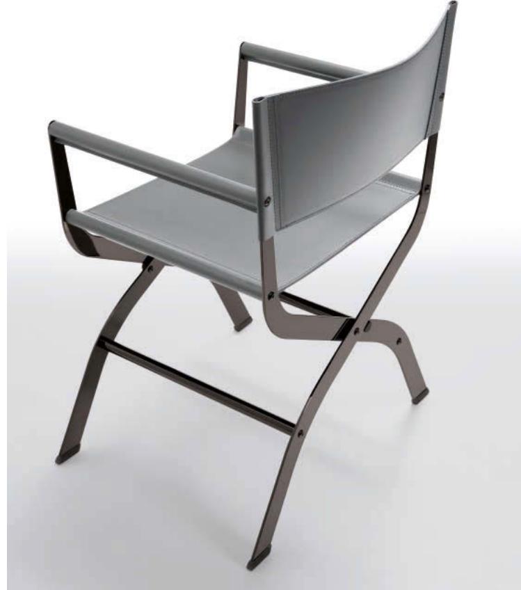 Poltroncina Cuoio Acciaio Raffaella : Sedia clark cuoio design poltroncina sedie a prezzi scontati
