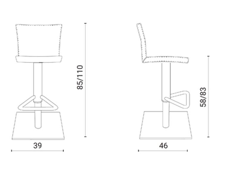 Sedia regolabile in altezza Soft Ozzio in Offerta Outlet