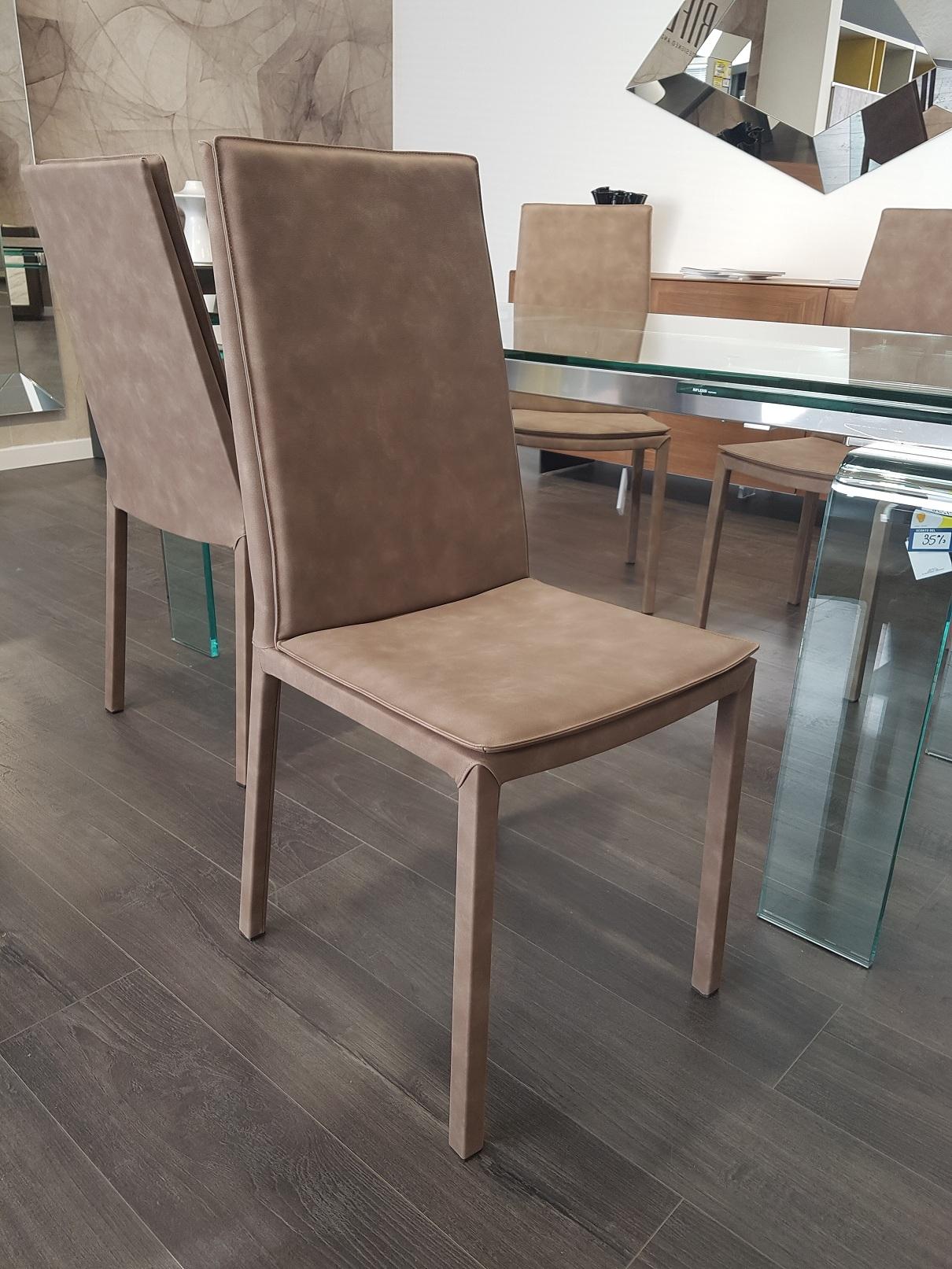 Sedia riflessi sveva pelle moderno sedie a prezzi scontati for Outlet sedie roma