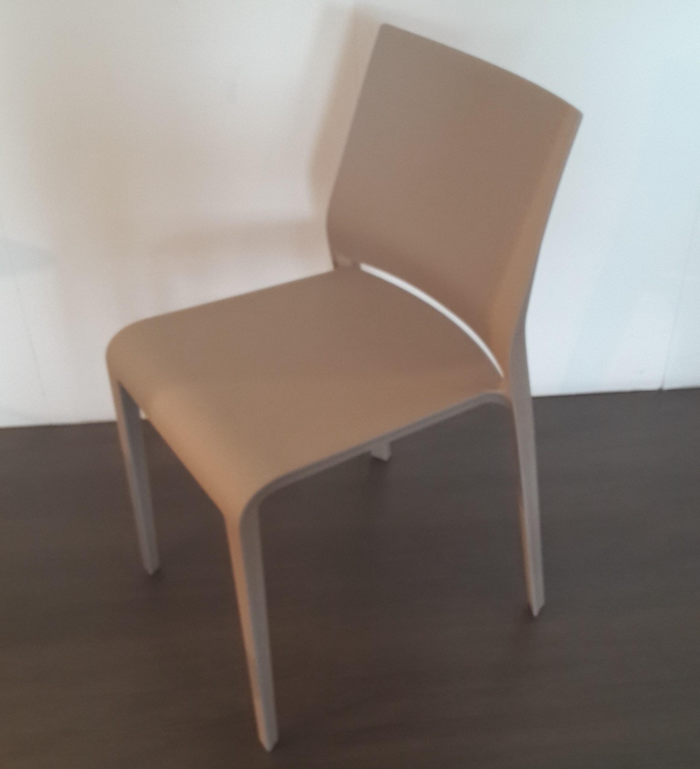Sedia riga desalto tortora sedie a prezzi scontati for Sedia design usata