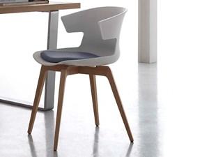 Sedia Santa Lucia modello Cove. Cove è una sedia con gambe in legno e con seduta in polipropilene disponibile in quattro colori.