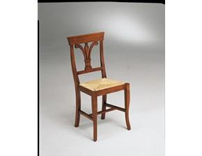 Sedia Sedia con schienale con motivo a calice in legno massello in promo-sconto del 40% Artigiani veneti con un ribasso vantaggioso