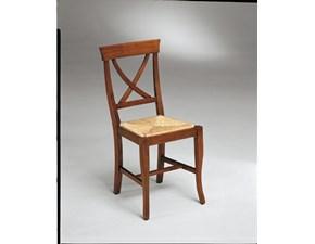 Sedia Sedia con schienale con motivo a crocera in legno massello in promo-sconto del 40% Artigiani veneti SCONTATA a PREZZI OUTLET