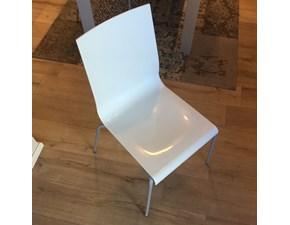 Sedia Sedia scavolini kuadra bianca lucida Scavolini SCONTATA a PREZZI OUTLET