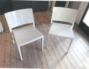 Sedia senza braccioli 4 sedie lizz bianco coprente Kartell a prezzo scontato