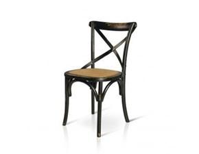 Sedia senza braccioli Art. occ045 Artigianale a prezzo Outlet
