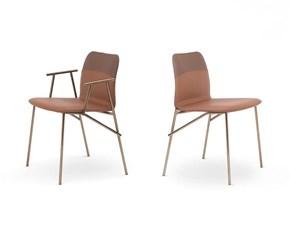 Sedia senza braccioli da soggiorno di Pianca a prezzo ribassato