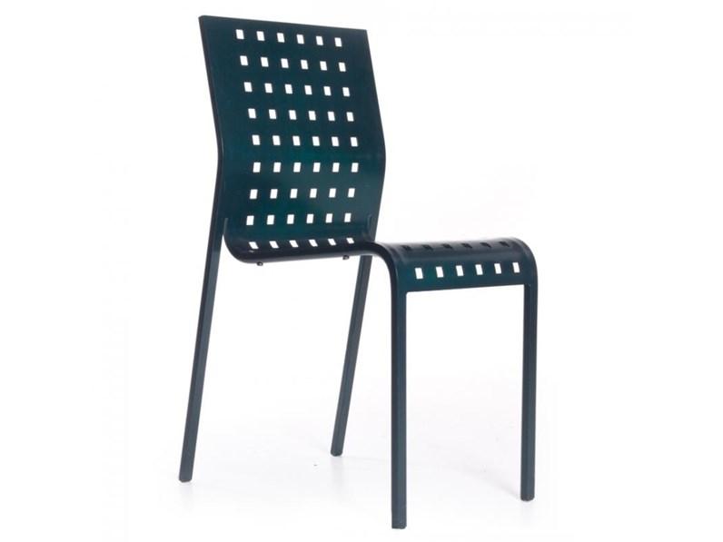Sedia senza braccioli design da soggiorno di Zanotta