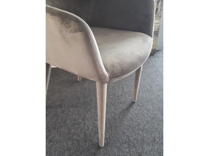 Sedia senza braccioli di lazzaro da soggiorno a prezzo outlet for Sedie soggiorno prezzi