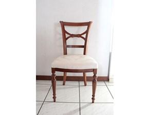 Sedia senza braccioli Giorgia Artigianale a prezzo Outlet