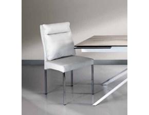 Sedia senza braccioli In ecopelle 3 colori fine produzione Md work a prezzo scontato