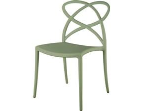 Sedia senza braccioli Mobilike ml909 Artigianale a prezzo Outlet