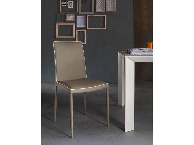 Sedia senza braccioli modello marta riflessi in offerta outlet for Arredamenti serafino