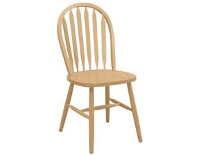 Sedia senza braccioli Old america Rossanese a prezzo Outlet