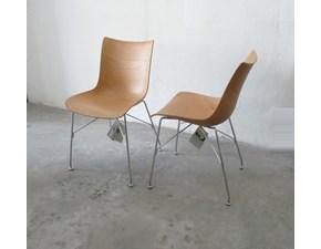 Sedia senza braccioli P wood set sedie in legno curvato 3d kartell Kartell a prezzo scontato