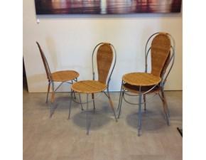 Sedia senza braccioli Paglia Artigianale in Offerta Outlet
