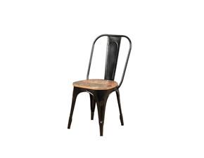Sedia senza braccioli Sedia ccok nera industriale  Outlet etnico a prezzo scontato