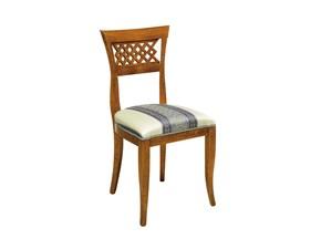 Sedia senza braccioli Sedia classica con schienale traforato scontata del 30% Artigianale a prezzo scontato