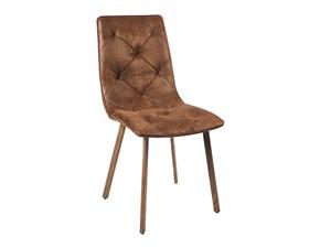 Sedia senza braccioli Sedia design imbottita  Outlet etnico a prezzo scontato
