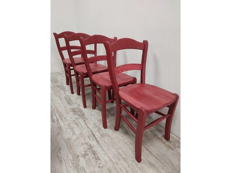 Sedia senza braccioli Sedia in legno - ferrero Ferrero legno a prezzo  scontato