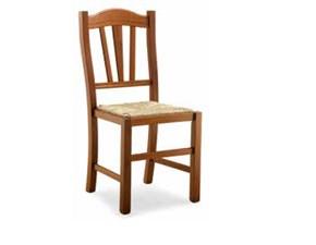 Sedia senza braccioli Sedia in noce modello sila Md work a prezzo Outlet