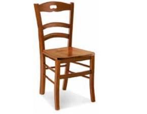 Sedia senza braccioli Sedia legno di noce modello era Md work a prezzo scontato