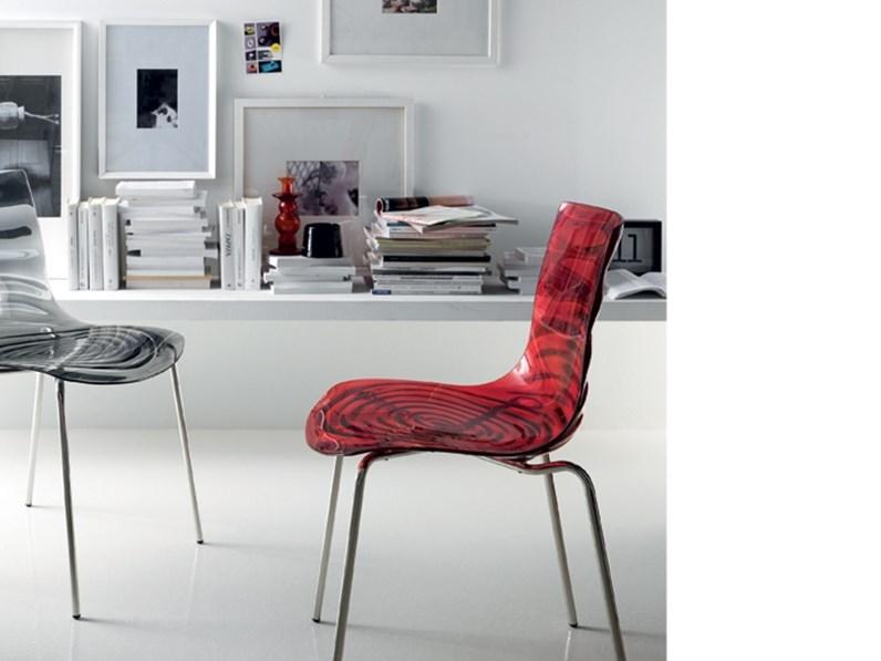 Sedia senza braccioli seltz scavolini in offerta outlet for Arredamenti villa outlet