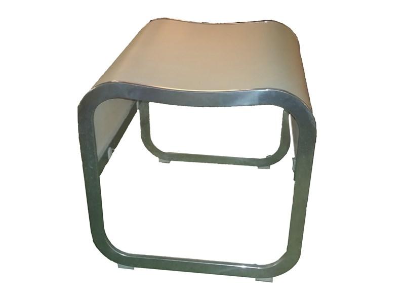 Sedia senza braccioli sgabello tavolino poggia piedi for Kristalia outlet