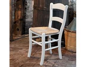Sedia senza braccioli Stock 4 sedie corinne Castagnetti a prezzo ribassato