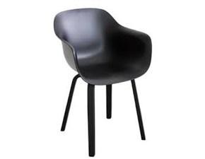 Sedia senza braccioli Substance nera Magis in Offerta Outlet