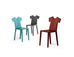 Sedia senza braccioli T-chair Mogg a prezzo Outlet