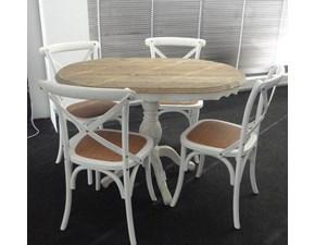 Sedia senza braccioli Tavolo art . db001598 + 4 sedie art. db000075 Dialma brown in Offerta Outlet