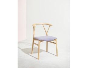 Sedia senza braccioli Valerie  Miniforms in Offerta Outlet