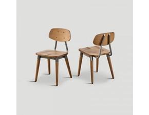 Sedia Set 4 sedie Dialma brown con un ribasso vantaggioso