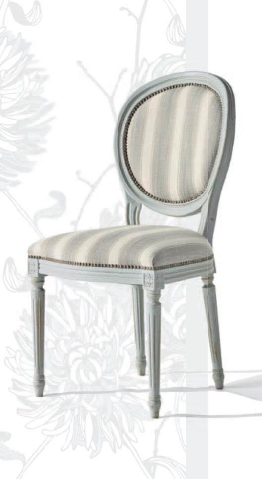 sedia shabby chic in tessuto imbottita nuova a prezzo