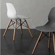 sedia Shell gambe faggio , sedile in polipropilene