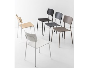 Sedia Snack Connubia by Calligaris