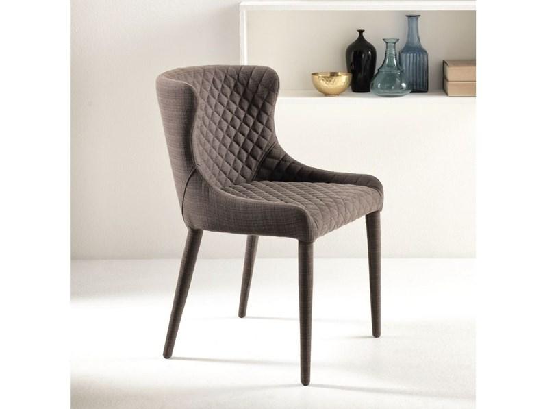 Sedie Tessuto Design.Sedia Stones Afrodite Tessuto Design Schienale Medio