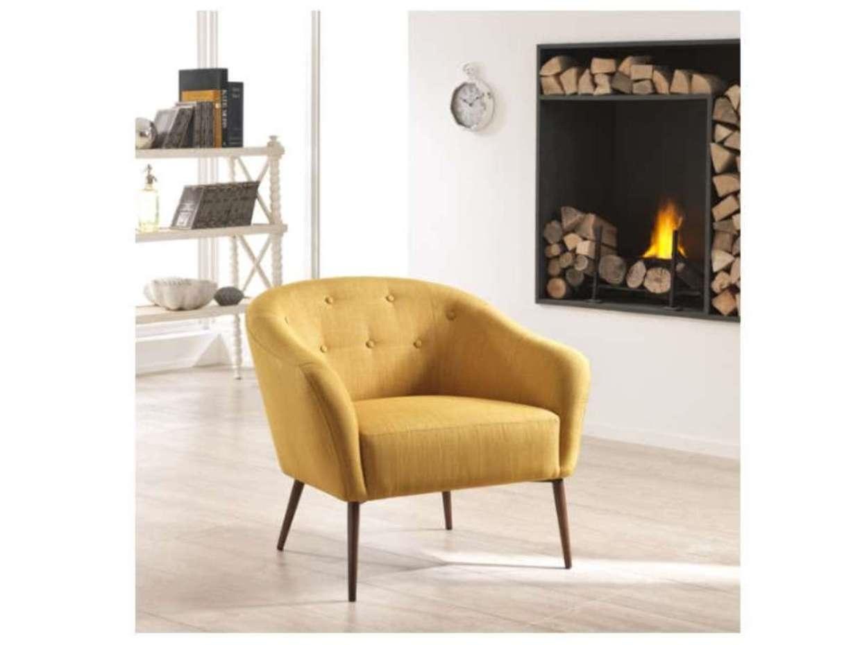 Sedia stones elena tessuto design poltroncina sedie a for Sedia ufficio gialla